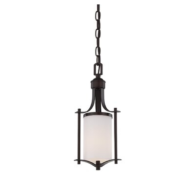 Agnes 1-Light Mini Pendant Finish: English Bronze