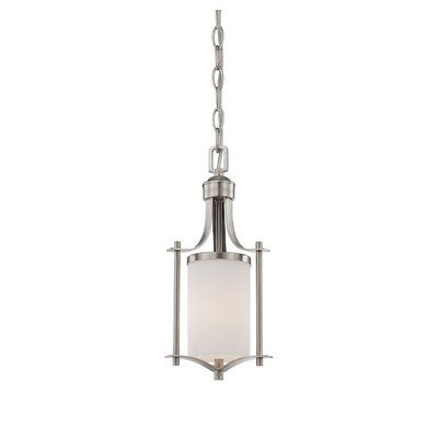 Agnes 1-Light Mini Pendant Finish: Satin Nickel