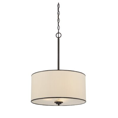 Laurie 3-Light Pendant Finish / Shade: English Bronze / Cream