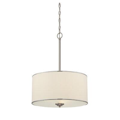Laurie 3-Light Pendant Finish / Shade: Satin Nickel / White