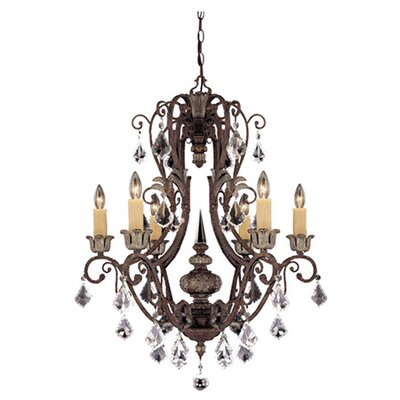 Elizabeth 6-Light Crystal Chandelier