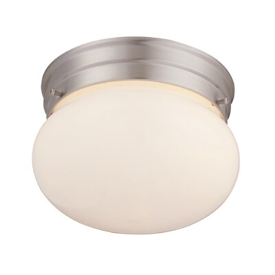 Araceli 1-Light Flush Mount Finish: Satin Nickel