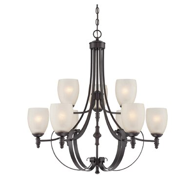 Vanhorne 9-Light Shaded Chandelier