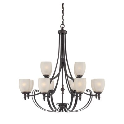 Vanhorne 12-Light Shaded Chandelier