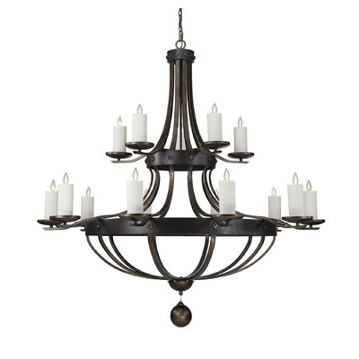 Wilburton 15-Light Candle-Style Chandelier
