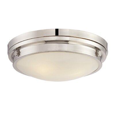 Kinross 3-Light Flush Mount Color: Polished Nickel