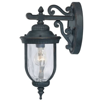 "Savoy House Castlemain Wall Downmounted Lantern in Black/Gold - Size: 23.25"" H x 10"" W at Sears.com"