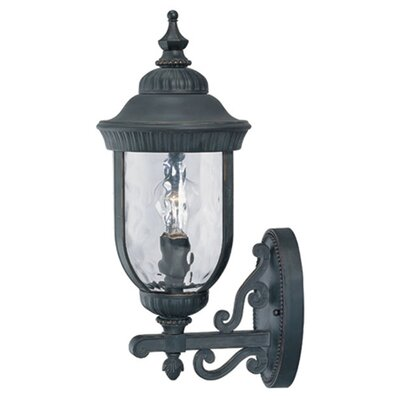 "Savoy House Castlemain Wall Upmounted Lantern in Black/Gold - Size: 23.25"" H x 10"" W at Sears.com"