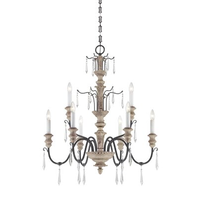 Senoia Candle-Style Chandelier Size: 9 Light