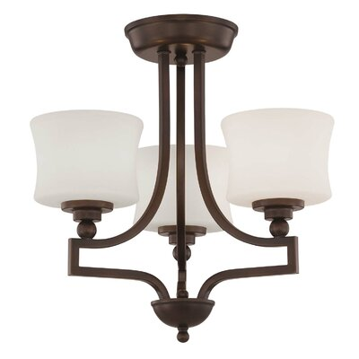Ellerman 3-Light Semi Flush Mount Finish: English Bronze