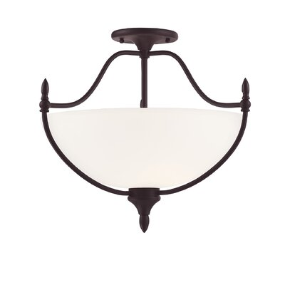Ellender 3-Light Semi Flush Mount Finish: English Bronze