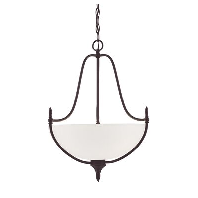 Gourdine 3-Light Inverted Pendant Finish: English Bronze
