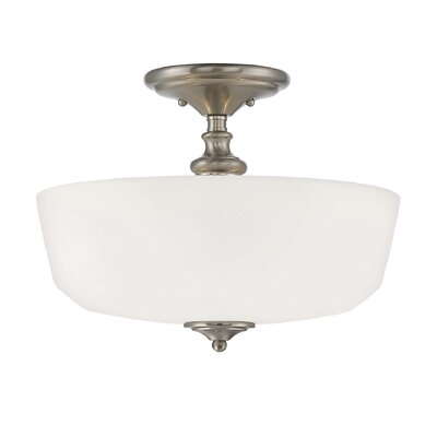 Genevieve 2-Light Semi Flush Mount