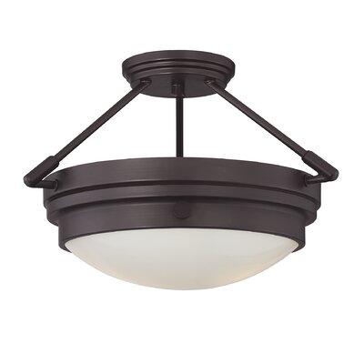 Aralene 2-Light Semi-Flush Mount Color: English Bronze