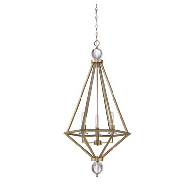 Becker 3-Light Foyer Pendant Finish: Warm Brass