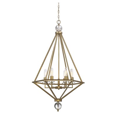 Alvarenga 6-Light Foyer Pendant Finish: Warm Brass