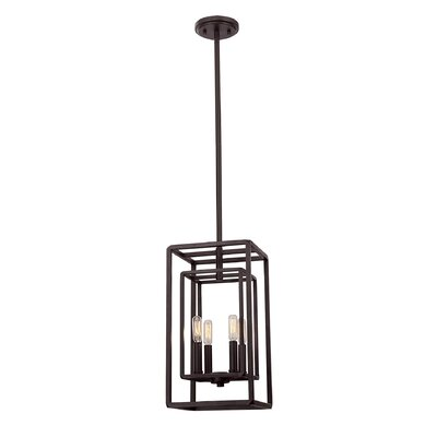 Eglantina 4-Light Rectangular Shape Foyer Pendant