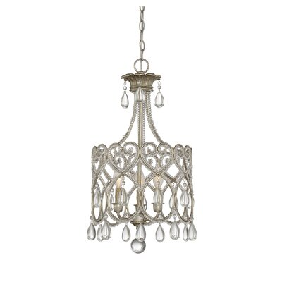 Matt 3-Light Crystal Chandelier