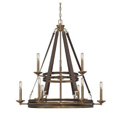 Prasann 9-Light Candle-Style Chandelier
