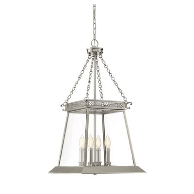 Colson 4-Light Foyer Pendant Finish: Polished Nickel
