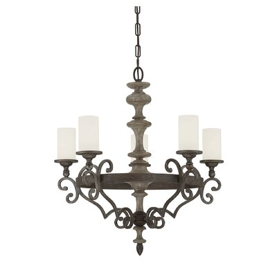 Noeline 5-Light Shaded Chandelier
