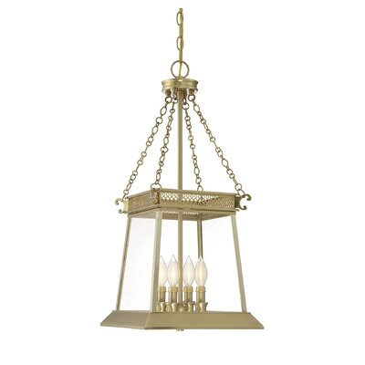Colson 4-Light Chain Foyer Pendant Finish: Warm Brass Luster