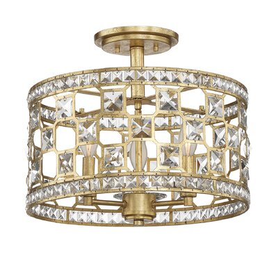 Bottorff 3-Light Semi-Flush Mount