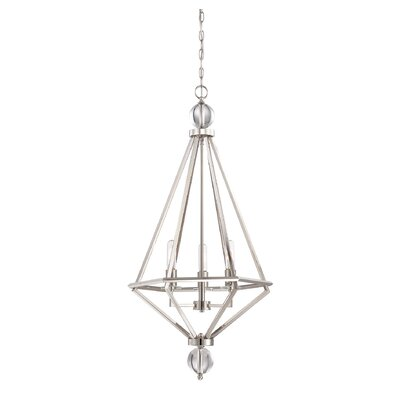 Becker 3-Light Foyer Pendant Finish: Polished Nickel