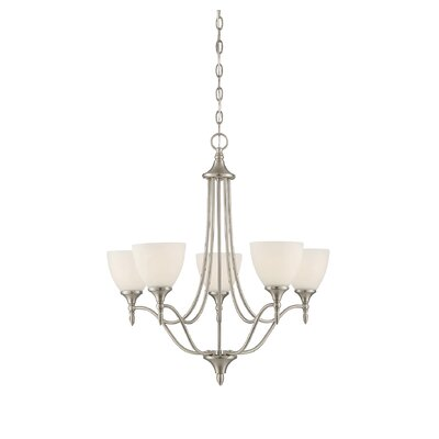Gourdine 5-Light Shaded Chandelier Finish: Satin Nickel