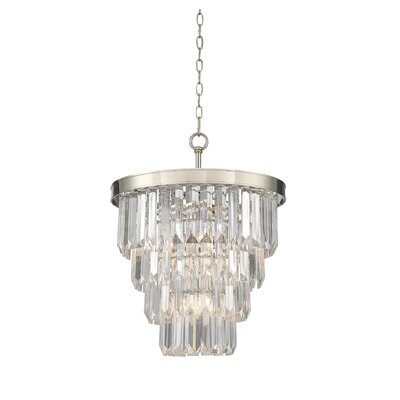 Apus 4-Light Crystal Chandelier