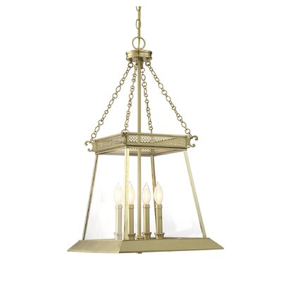 Colson 4-Light Foyer Pendant Finish: Warm Brass Luster