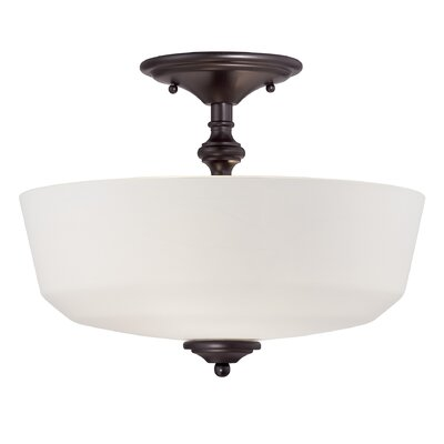 Genevieve 2-Light Semi-Flush Mount Finish: English Bronze