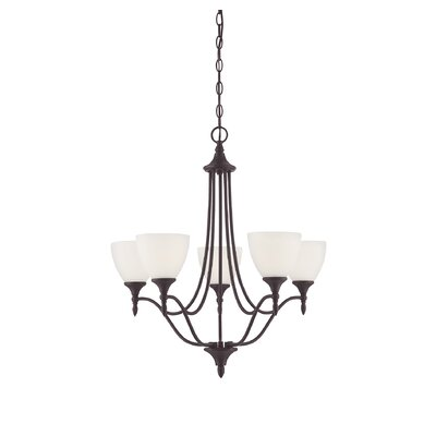 Ellender 5-Light Shaded Chandelier Finish: English Bronze
