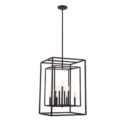 Eglantina 9-Light Stainless Steel Foyer Pendant