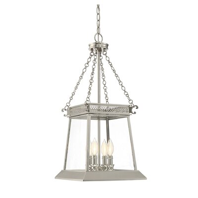 Colson 4-Light Chain Foyer Pendant Finish: Polished Nickel