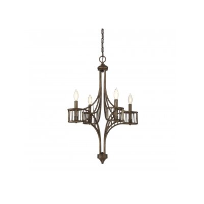 Mousseau 4-Light Candle-Style Chandelier