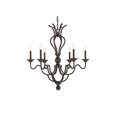 Chatterton 6 Light Candle-Style Chandelier