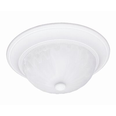 2-Light Flush Mount Finish: Matte White