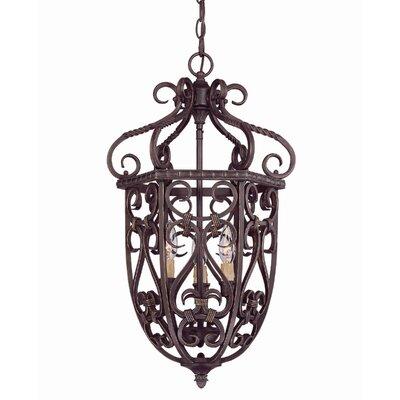 Bellingham 3-Light Cage Foyer Pendant