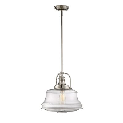 Nadine 1-Light Schoolhouse Pendant Finish: Polished Nickel
