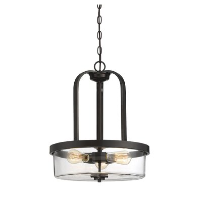 Renton 3-Light Drum Pendant