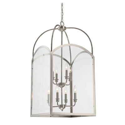 Mount Airy 8-Light Foyer Pendant Finish: Polished Nickel