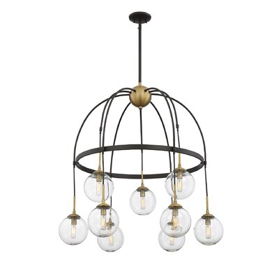 Yorba 9-Light Shaded Chandelier