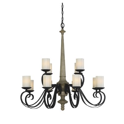 Belles 12-Light Shaded Chandelier