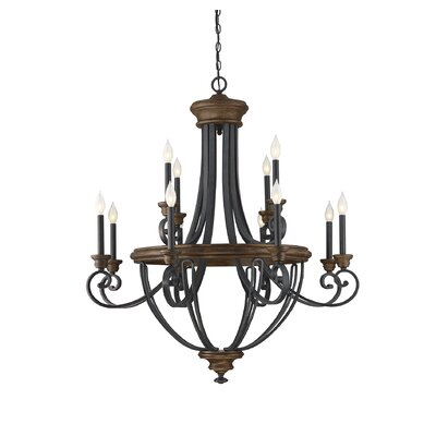 Nanteuil 12-Light Candle-Style Chandelier