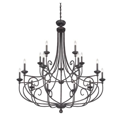 Tarasova 15-Light Metal Candle-Style Chandelier