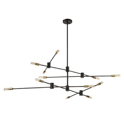 Whaleback 12-Light Geometric Pendant Finish: Bronze