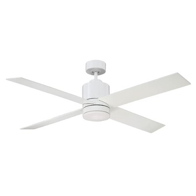 52 Dayton 4 Blade Ceiling Fan with Remote Control Finish: White