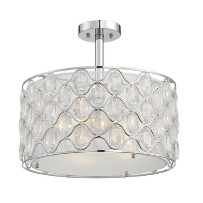 Neeson 3-Light Semi Flush Mount