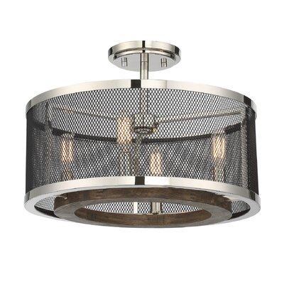 Wilder 4-Light Semi Flush Mount